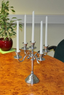 Barock Kerzenständer Aluminium 31cm 5-armig Tischleuchter Kerzenleuchter Kerze - Vorschau 2