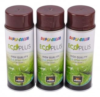 3x 400ml Dupli Color ECOPLUS Lackspray schokobraun Farbspray Sprühlack Sprühdose