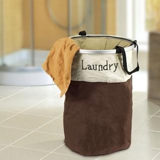 Wäschekorb faltbar Laundry Wäschesack Wäschesammler Wäschetonne Wäschesortierer - Vorschau 2
