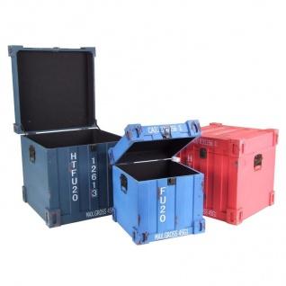Truhen-Set 3tlg. Container Design Aufbewahrungskiste Holzkisten Dekokisten Truhe - Vorschau 2