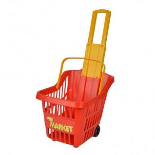 Kinder Einkaufstrolley Einkaufskorb Kaufmannsladen Spielzeug Trolley Ziehwagen