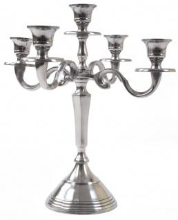 5 Stück Barock Kerzenständer Aluminium 31cm 5armig Kerzenhalter Kerzenleuchter