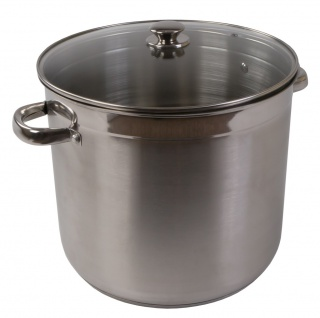 Edelstahl-Kochtopf 20L + Deckel Kochen Topf Spaghettitopf Suppentopf Gulaschtopf