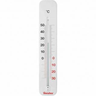 Innen-/Außen-Thermometer 29 cm Metall weiß