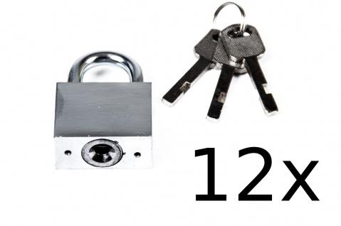 12x TAS Sicherheits-Vorhängeschloss Stahl 40mm