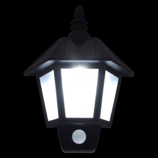 LED Solar-Wandlampe mit Bewegungsmelder Außenleuchte Gartenlicht Terrassenlampe