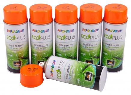 6x Dupli Color ECOPLUS Lackspray reinorange auf Wasserbasis Sprühlack Sprühdose