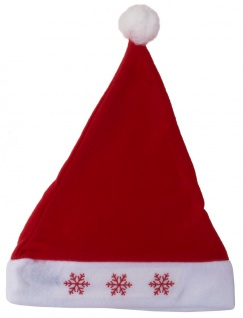 LED Weihnachtsmütze mit Bommel blinkend Nikolausmütze Mütze Weihnachten
