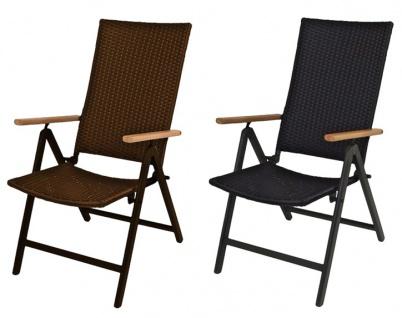 Alu-Klappsessel Serra braun oder schwarz Sessel Gartenstuhl Relax-Gartensessel