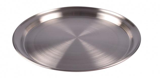 Edelstahl Tablett 35cm Serviertablett Frühstückstablett Dekoteller Kerzentablett