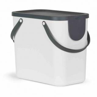 Recycling-Müllsystem Albula 25l weiß Abfallsammler Abfallbox Mülleimer Haushalt