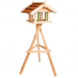 Vogelfutterhaus Ständer 52x56x40cm Garten Terrasse Futterhaus Vogelhaus Deko NEU