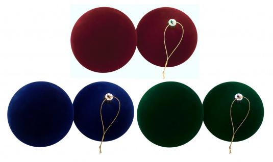 Samt-Weihnachtsbaumkugeln 2er-Set 10cm Christbaumkugel Baumschmuck Dekokugel