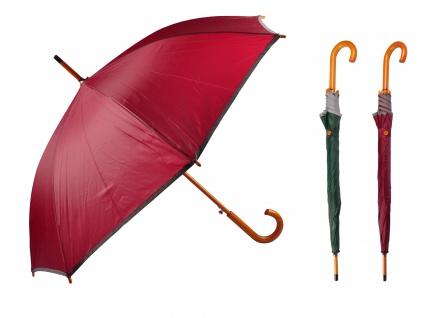 Regenschirm mit Holzgriff Automatik Stockschirm Stützschirm Sonnenschirm Schirm