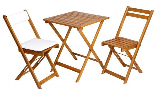 Balkon-Set 3-tlg. Sitzgarnitur Gartenmöbel Balkonmöbel Klapptisch Klappstühle