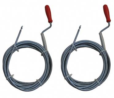 2er Set B-Ware Rohrreinigungswelle 5m 6mm Abflussreinigung Reinigungswelle - Vorschau 1