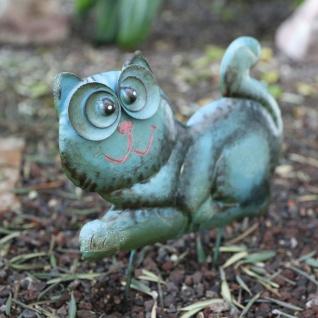 Metall-Beetstecker Katze Gartenstecker Gartendeko Gartenfigur Shabby 36x24x2, 5cm - Vorschau 3