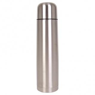 Edelstahl Isolierflasche mit Trinkbecher 1L Thermosflasche Thermoskanne Becher