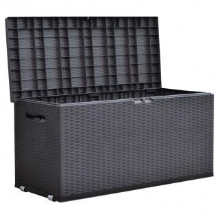 Gartentruhe Rattan-Design Rollbox Auflagenbox Kissen Aufbewahrung Truhe