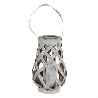 LED Solar-Spirallaterne 22cm Lampion Spirale Solarlampe Hängelaterne Gartendeko