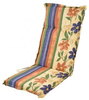 Polsterauflage für Hochlehner Gartenstühle Sitzkissen Sesselauflage Sitzauflage