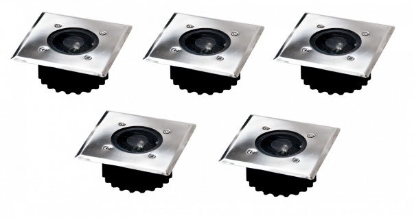 5x LED Solar-Bodeneinbauleuchte Bodenstrahler Bodeneinbaustrahler Solarlampe