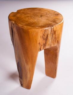 """Hocker """" Bali"""" aus Teakholz rund D=30cm"""