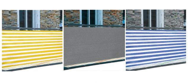 Balkonsichtschutz 5m Windschutz Balkonverkleidung Sichtschutzmatte Sichtschutz - Vorschau 1