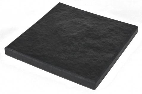 Gartentrittplatte 30x30cm Graphit Trittstein Gartenwegplatte Bodenplatte Deko