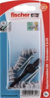 fischer FISCH.GIPSK.DüBEL Gipskartondübel GK 52392 Gks K 5st Sb52392