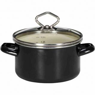 Fleischtopf 24cm Emaille Kochtopf Töpfe Suppentopf Küchenhelfer Kochen Braten