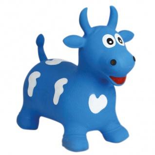 Hüpftier Kuh oder Einhorn mit Pumpe Hüpfball Hopser Pferd Pony Kinder Spielzeug - Vorschau 2