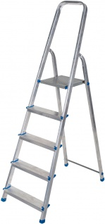 ap alpfa gmbh HAUSHALT-LEITER Stufen-Stehleiter 800869 Alu 5stf.
