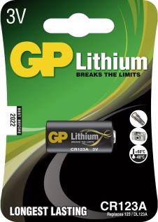 """GP Batterie ,, Lithium CR123A"""" 070CR123AD1 Li"""