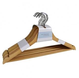 Holz-Kleiderbügel mit Steg 8er-Set Rockbügel Hosenbügel Garderobenbügel Bügel