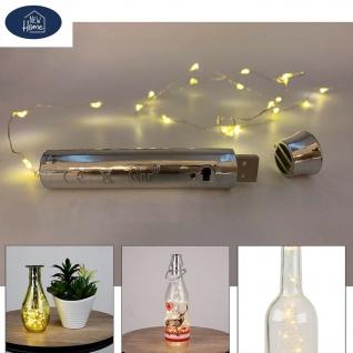 USB Flaschen-Lichterkette 50LEDs Drahtlichterkette Flaschenlicht wiederaufladbar