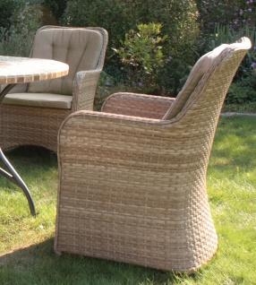 CONSUL GARDEN ALU/GEFLECHT-SESSEL Sessel inklusive Sitz- und Rückenkissen (100 % Polyester), Kissen: 5 cm M.kissen Indiana