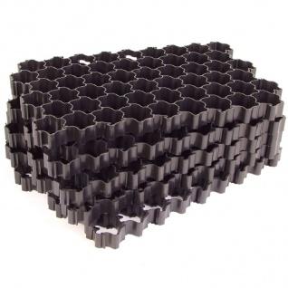 5er-Set Rasengitterplatten Gehwegplatten Rasenwaben Rasenmatten Gitterplatten