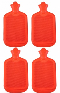 4x Wärmflasche Retro 2L Wärmetherapie Wärme Flasche Therapie Wärmekissen Gummi