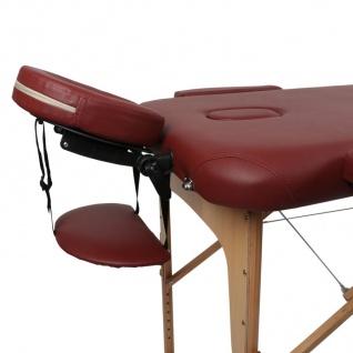 Profi Massageliege bordeaux Kosmetikliege Massagebank Massagetisch bis 270kg - Vorschau 3