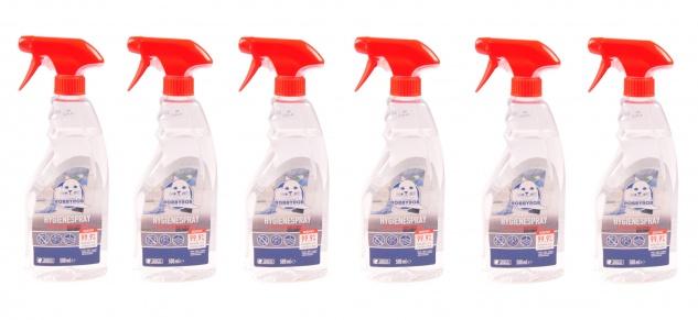 Hygienespray 6x 500ml Desinfektionsspray Flächendesinfektion Desinfektion