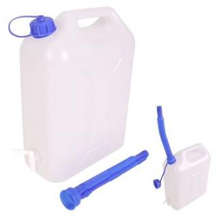 Wasserkanister 10 Liter mit Auslaufhahn Camping Wasserbehälter Kanister Behälter