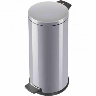 Mülleimer Solid L 18l silber Abfalleimer Abfallsammler Müllbehälter Haushalt TOP