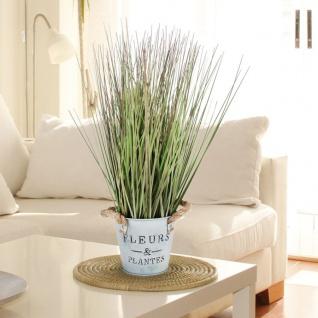 Künstliches Gras 42cm Dekogras Grashalme Kunstpflanze Zimmerpflanze Blumentopf