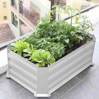 Hochbeet 80x50x30cm Pflanzen Garten Terrasse Balkon Blumen Anzucht Kräuter Obst
