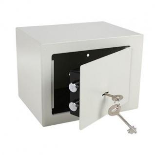Schlüsselsafe Tresor Safe Schrank Schlüssel Aufbewahrung Mini beige 23x17x17cm