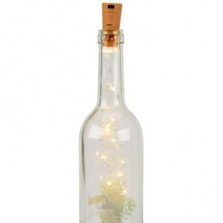 Flaschenlicht 10 LEDs Lichterkette Korken Drahtlichterkette Dekolicht Partylicht - Vorschau 2