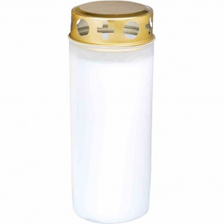 Kompo-Öllicht Nr. 6 weiß mit Golddeckel