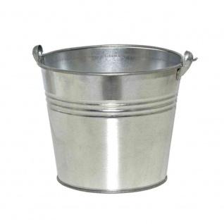 Eimer mit Ösenhenkel 1, 5 l, verzinkt Stahlblech silber