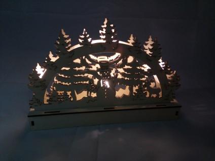 2x Holz-Fensterdeko 5 LEDs Schneemann Schwibbogen Lichterbogen Weihnachtsdeko